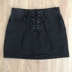 Pac Sun Kendall & Kylie Black Denim Mini Skirt